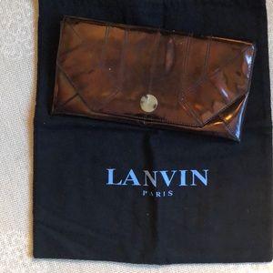 Lanvin patent leather clutch